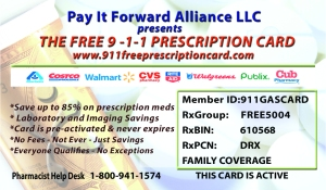 911 Free Prescription Card